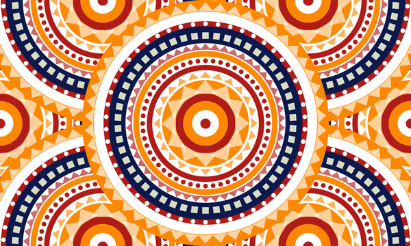 Abstract circle pattern, seamless pattern