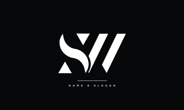 SW ,WS,S,W  Abstract Letters Logo Monogram