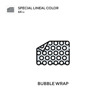 Bubble wrap special lineal color vector icon. Bubble wrap icons for your business project