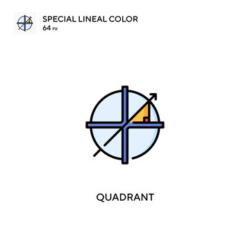 Quadrant special lineal color vector icon. Quadrant icons for your business project