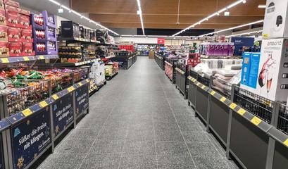 Aisle in ALDI SUED Store