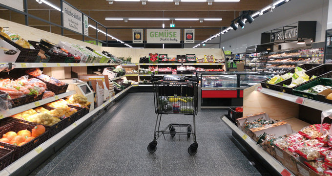 Aisle with Fruits in ALDI SUED