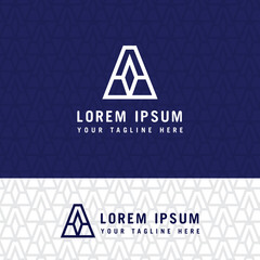 Simple triangle vector logo letter A in a modern style.