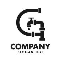 initial G plumbing logo creative concept