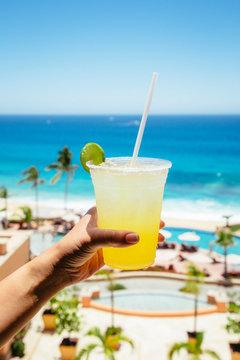 margarita cocktail on the beach resort