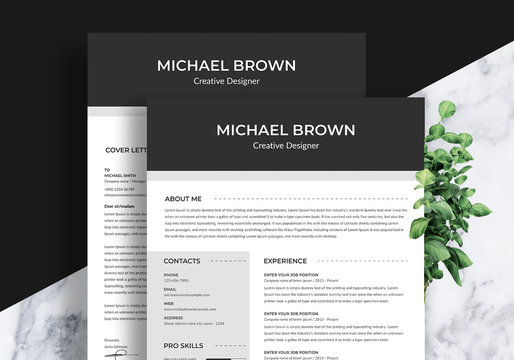 Professional Resume with Cover Letter Template