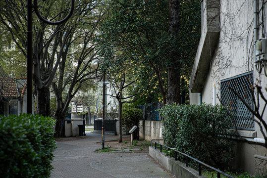 Rue vide à Montpellier pendant le confinement.