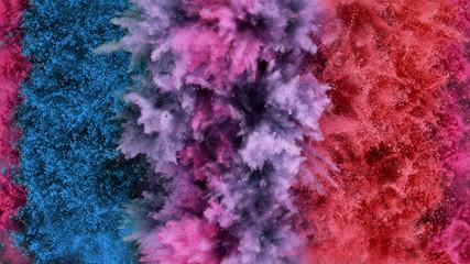 Fototapete - Colorful powder explosion