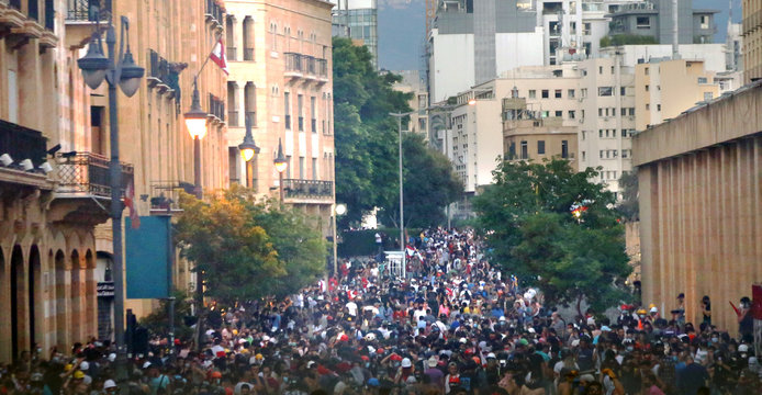 Revolution, protests and confrontations in Beirut, Lebanon, following the explosion on August 4th, 2020.
