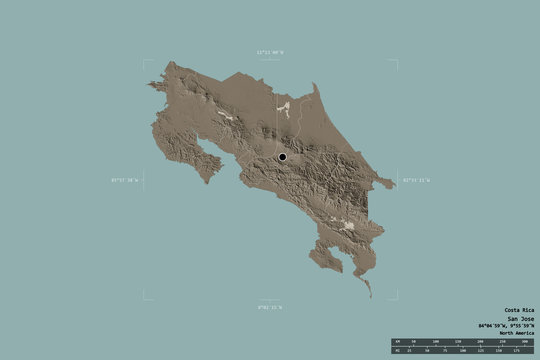 Regional division of Costa Rica. Administrative