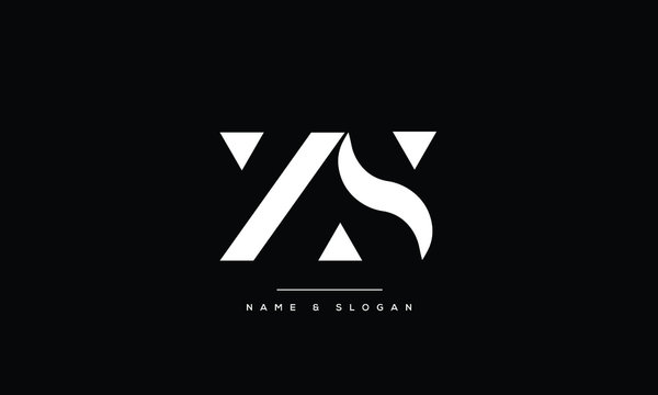 SZ,ZS,S,Z  Abstract Letters Logo Monogram