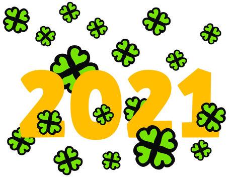 year 2021_yellow_shamrock_by jziprian