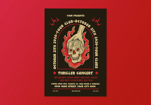 Thriller Concert Flyer Layout