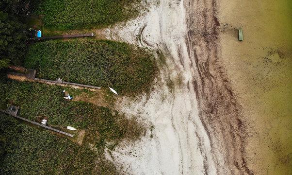 Lake Seddin dries out