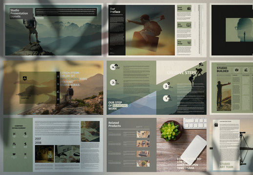 Clean Portfolio Presentation Layout