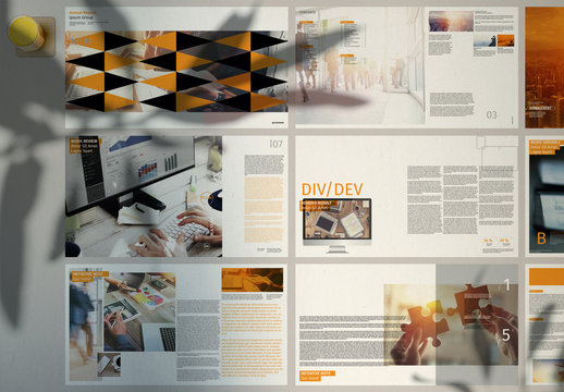Smart Annual Report Presentation Layout