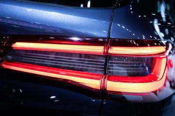 Detail of car LED backlight lamp of new modern car.