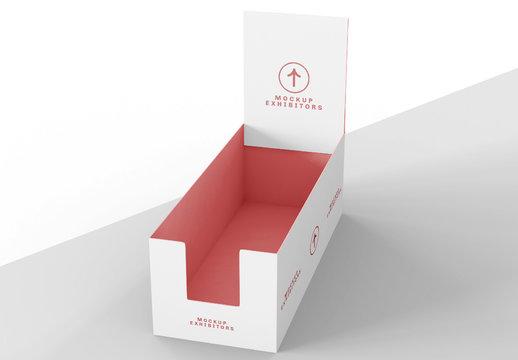 Cardboard Shelf Box for Product Mockup