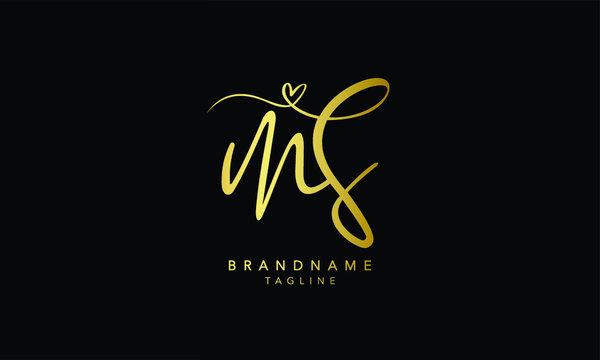 Alphabet letters Initials Monogram logo MS, SM, M and S