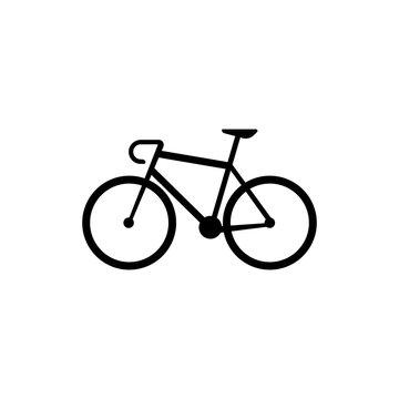 Bike sillhouette. Logo vector icon.