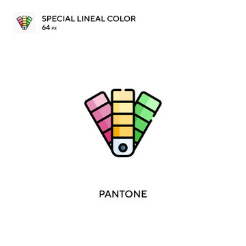 Pantone Special lineal color vector icon. Pantone icons for your business project