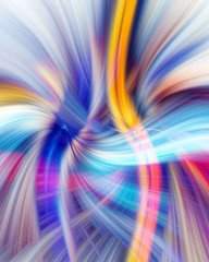 Twirl Effect Blue and Yellow