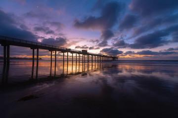 Scripps Pier San Diego Sunset at Blue Hour