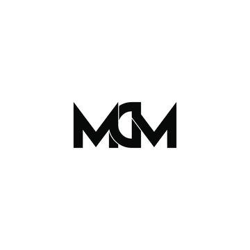 mdm letter original monogram logo design