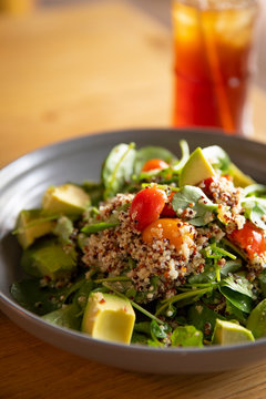 Quinoa bowl with avocado and tomato