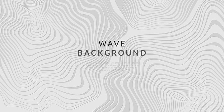 abstract white line wave background