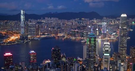 Wall Mural - Hong Kong city skyline at night
