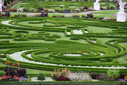 HANNOVER, GERMANY - 30 JULY: It's ranks the most important gardens in Europe. The Large Gardens in Herrenhausen gardens in Hanover, German on July 30,2014.