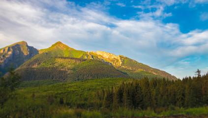 Piękny widok na krajobraz górski.