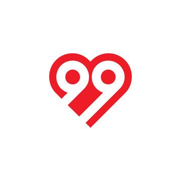 ninety-nine Love Logo Vector
