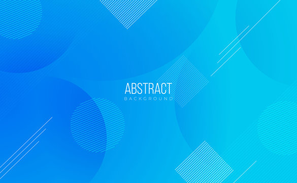 Modern professional blue vector Abstract Technology business background with lines and geometric shapes