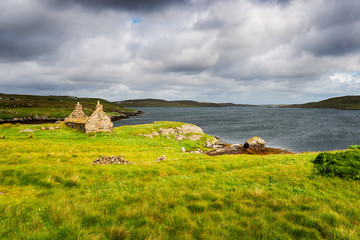 Wall Mural - A ruined croft house at Kirkibost on the Ilse of Great Bernera