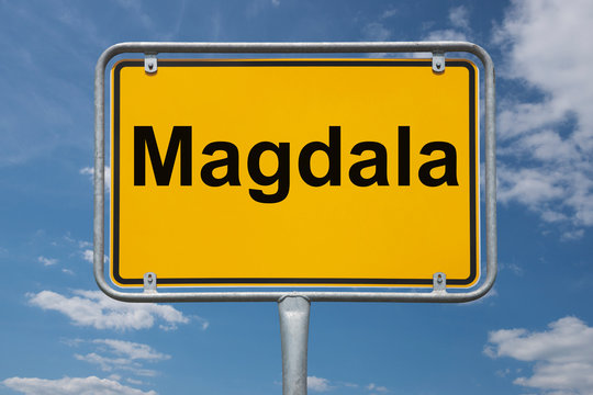 Ortstafel Magdala