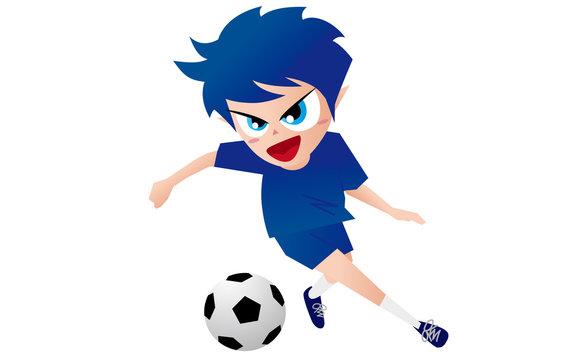 Football Soccer サッカー ドリブル