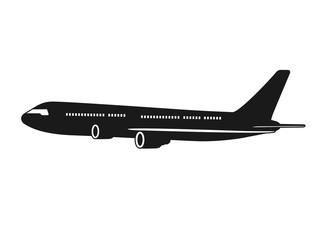 飛行機のアイコンイラスト Fotobehang