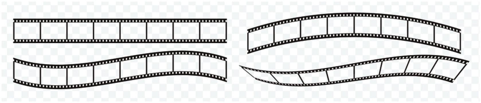 35mmフィルムのベクターデータ、4種のバリエーション