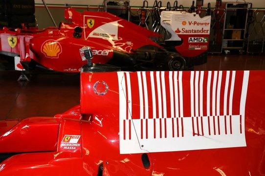 MUGELLO, IT, October 2017: Detail of Modern Era Ferrari Formula 1 at Mugello Circuit in italy during Finali Mondiali Ferrari 2017. Italy
