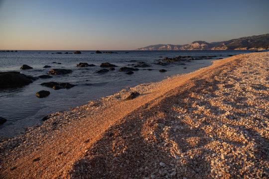 Morning at Spiaggia Cala Gonone, Sardinia, Italy