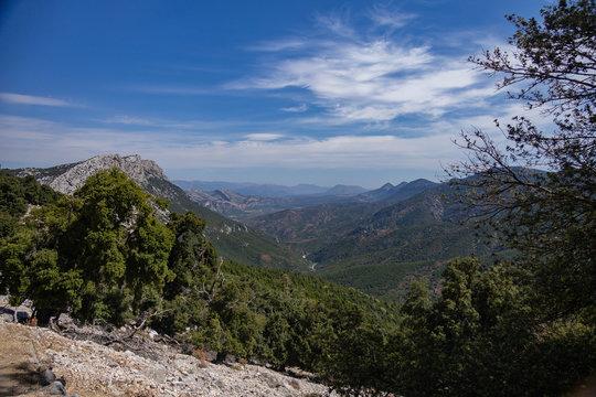Valley view of Gola di Gorropu, Sardinia, Italy