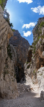 Panoramic canyon view of Gola di Gorropu, Sardinia, Italy 2