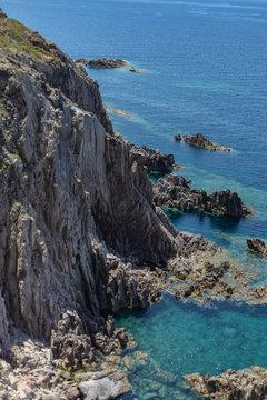 View of Mediterranean Sea from Belvedere di Capo Sandalo, Carloforte, Sardinia, Italy 3