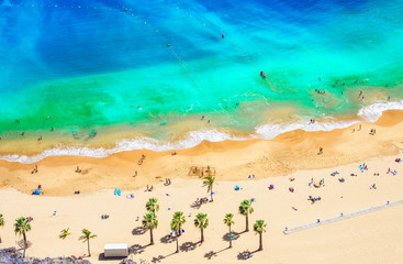 Wall Mural - Landscape with Las teresitas beach, Tenerife, Canary Islands, Spain