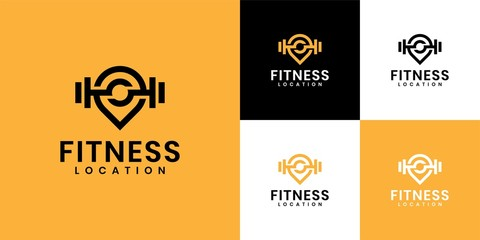 The inspiration for the logo is to combine the gym logo and location logo. premium design logo inspiration