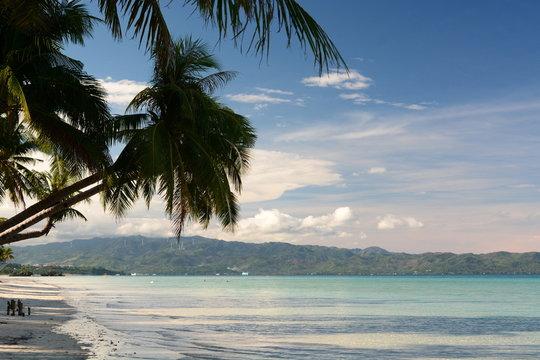 View of White Beach, station one. Boracay island. Aklan. Western Visayas. Philippines
