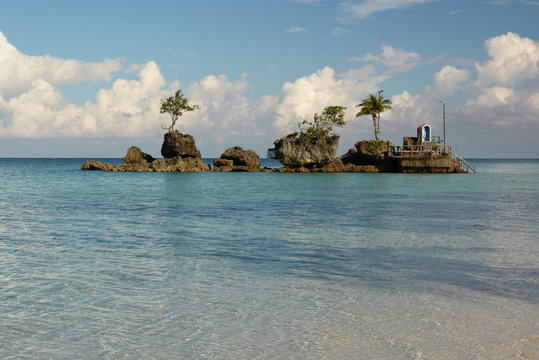 View of Willy Rock. Boracay island. Western Visayas. Philippines