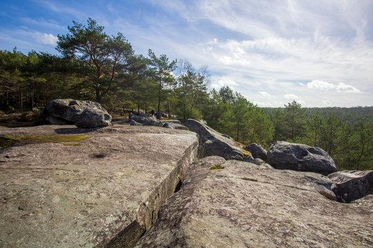 Chaos rocheux aux Gorges de Franchard à Fontainebleau